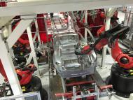 Imagen de la fábrica de Tesla en Fremont California