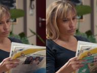 Esta imagen muestra cómo Mirriad inserta un anuncio en la parte posterior de un periódico.