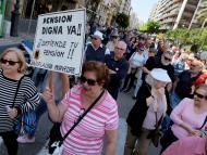 Pensionistas en una protesta