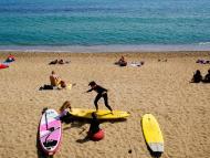 Personas en la playa