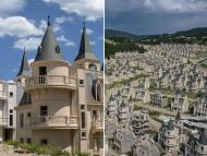 Pueblo fantasma de Turquía con castillos Disney