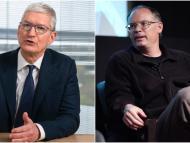 Tim Cook, CEO de Apple y Tim Sweeney, CEO de Epic Games