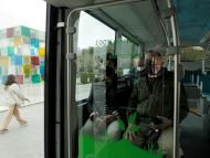 Un autobús eléctrico en Málaga.