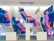 Chaise Longue Economy Seat  - asientos cabina avión