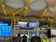 Control seguridad sanitario aeropuerto Barajas