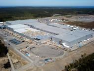 Imagen del avance de la fábrica de Northvolt en Suecia a junio de 2021
