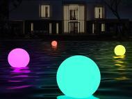 luces flotantes piscina