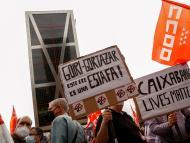 Manifestación contra el ERE de CaixaBank.