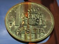 Monumento de una moneda de peseta