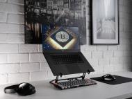 Un ordenador con el símbolo de bitcoin en la pantalla.
