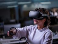 Una persona usando unas Oculus Quest