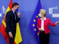 El presidente del Gobierno español, Pedro Sánchez, y la de la Comisión Europea, Ursula von der Leyen
