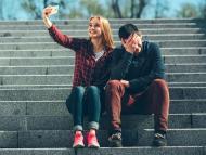 Selfie en escaleras