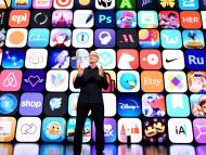 Tim Cook, CEO de Apple, durante la WWDC21