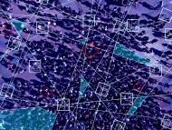 Vista aérea de un grupo de personas