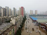 Ciudad de China inundada