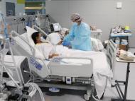 Una mujer ingresada en el hospital Zendal