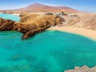 Las playas de Papagayo, en Lanzarote.