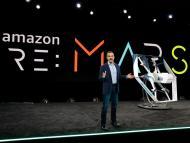 Presentación de un modelo de dron de Amazon Prime Air en 2019