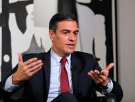 El presidente del Gobierno, Pedro Sánchez, durante una entrevista a Reuters en su gira por EEUU