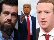 Trump planea demandar a Mark Zuckerberg y Jack Dorsey por el bloqueo de Facebook y Twitter a su cuenta en enero