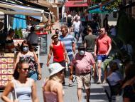 Turismo en las calles de España.
