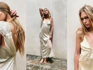 Vestidos lenceros de seda para novias de Zara
