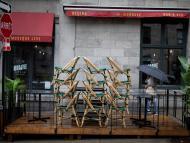 Bar cerrado por la pandemia