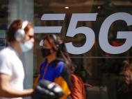 Un cartel de 5G.