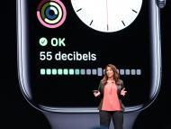 Dr. Sumbul Desai, a vice president of health at Apple, speaks during Apple's developers conference in 2019.