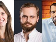 Georgia Stewart, de Tumelo, Dmitry Tokarev, de Copper y Karan Shanmugarajah, de WealthKernel.
