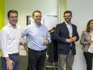 Jesús Encinar (2i) y Fernando Encinar (2d), fundadores de idealista en la inauguración de la oficina de Lisboa en 2015.