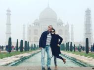 Alina Vandenberghe, junto a su marido y socio, Nicolas, en el primer viaje de la empresa a la India.
