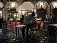 Una calle de Venecia en una de sus últimas inundaciones.