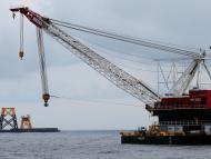 Construcción de una planta eólica marina en Rhode Island, EEUU.