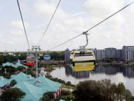 "Disney World ""Skyliner"" gondola aerial tram at Caribbean Beach resort"