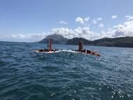 El dispositivo de generación de energía de Arrecife Systems, durante las pruebas en el mar