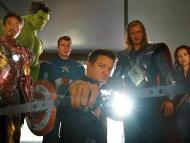 Iron Man, the Hulk, Captain America, Hawkeye, Thor and Black Widow in 2011's The Avengers