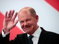 El líder del Partido Socialdemócrata (SPD) y principal candidato a canciller, Olaf Scholz