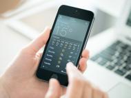 La aplicación Tiempo de iPhone