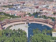 Comparación Plaza de España de Sevilla.