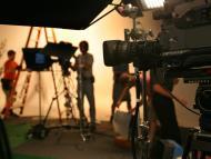 crew workers on set