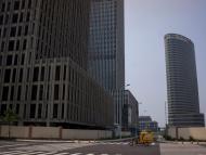 Edificios sin terminar y calles vacías en Xiangluo Bay. Se esperaba que Yujiapu & Xiangluo Bay, un nuevo distrito comercial central en construcción en Tianjin, fuera el Manhattan de China. Ahora es una ciudad fantasma.