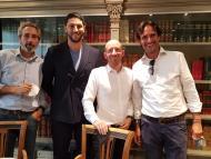 Emilio Gómez Jane, de ICF (i); Samir Matki, de Impact Partners (2i), Nicolas Touboulic, de Impact Partners (2d); Alberto Porciani, CEO de Top Doctors (d).