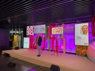 Javier Megias, de Fundación Innovación Bankinter, presentando los datos en el South Summit
