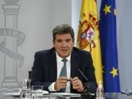El ministro de Inclusión, Seguridad Social y Migraciones, José Luis Escrivá, en una rueda de prensa tras un Consejo de Ministros