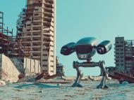Robot en mitad de catástrofe