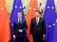 Xi Jinping y Emmanuel Macron