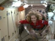 Yulia Peresild en la Estación Espacial Internacional