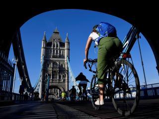 Un ciclista en Londres